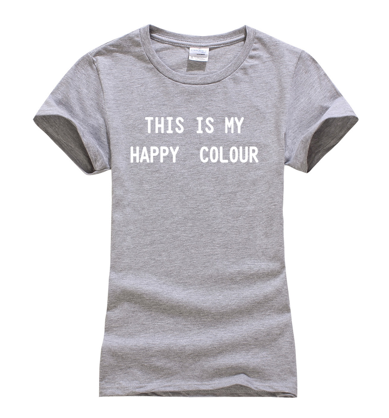 Black Is My Happy Color 2019 Summer New Arrival T Shirt Women Harajuku Tops Funny Femme Brand Black White Slim Fit T-shirt Women