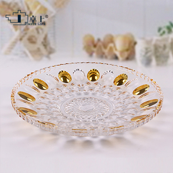 christmas decorations for home European  creative crystal glass fruit plate large size dried  modern living room tea table