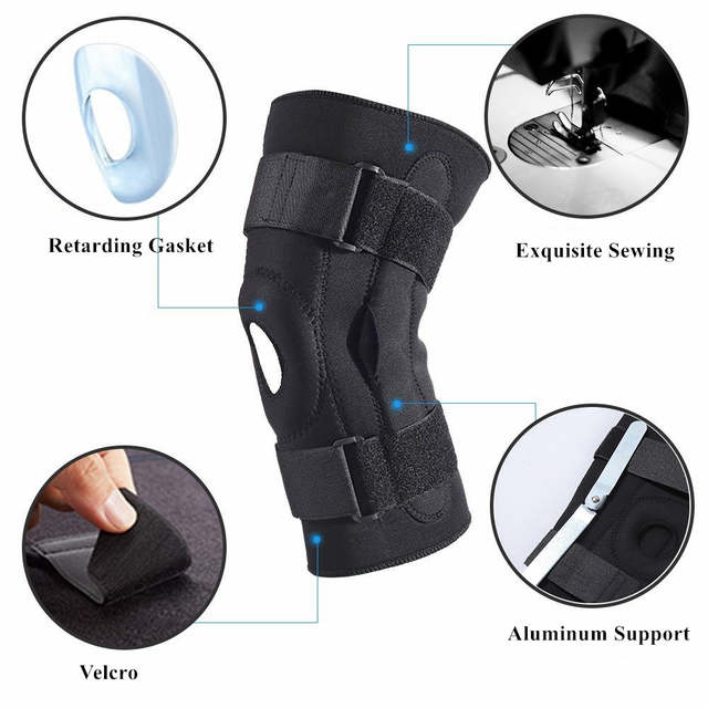 US $13 99 30% OFF|Adjustable Knee Sleeve Brace Support Strap With Metal  Plate for Running, Jogging, Sports,Joint Pain Relief, Arthritis Recovery-in