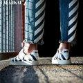 Los Zapatos Blancos Para Las Mujeres Pareja Zapatos Pequeños Zapatos Blancos de Calidad Superior Original de la Marca Genuina Zapatos de Cuero 35-40 Eur XWS0004-1