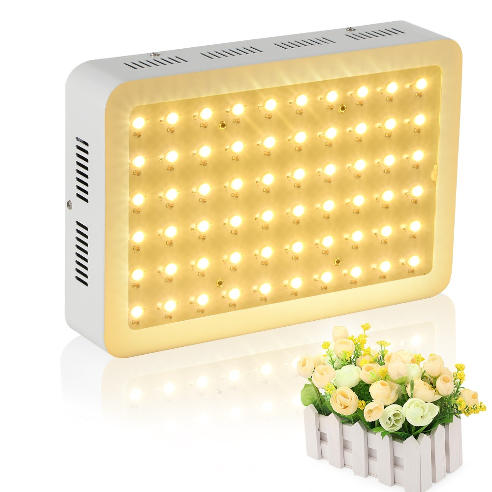 Full Spectrum 60x5w 300W LED Grow Lights for all stage of plants growth indoor Hydroponic greenhouse personal grow box/tent growth of telecommunication services