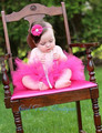 Caliente Rosa Bailarina Falda Del Tutú Del Bebé Con Banda de Pelo Floral Baby Girl Falda Del Tutú Del Cumpleaños De Cumpleaños Hecha A Mano Tamaño NB-2T
