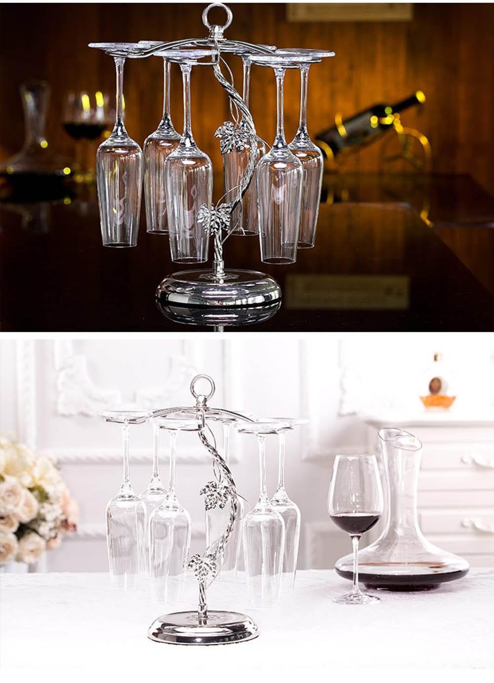 Fashion Decorative Metal Modern Hanging Wine Glass Racks Wine Cabinet Wedding Decor Gift Wine Glass Holder Wine Accessories KC1284 (10)