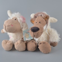2Pcs 25cm NICI White Sheeps And White Wolf Stuffed Plush Toy Baby Kids Doll Gift Free