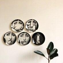 8 дюймов Италия Милан творческий узор Piero Fornasetti таблички керамика настенный декоративный задний план пластины в скандинавском стиле