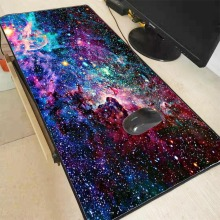 Mairuige Outer Space Gamer Play Mats Lock Edge Waterproof Mousepad Size for 300*800*2mm and 400*900*3mm Design Large Mouse Pad