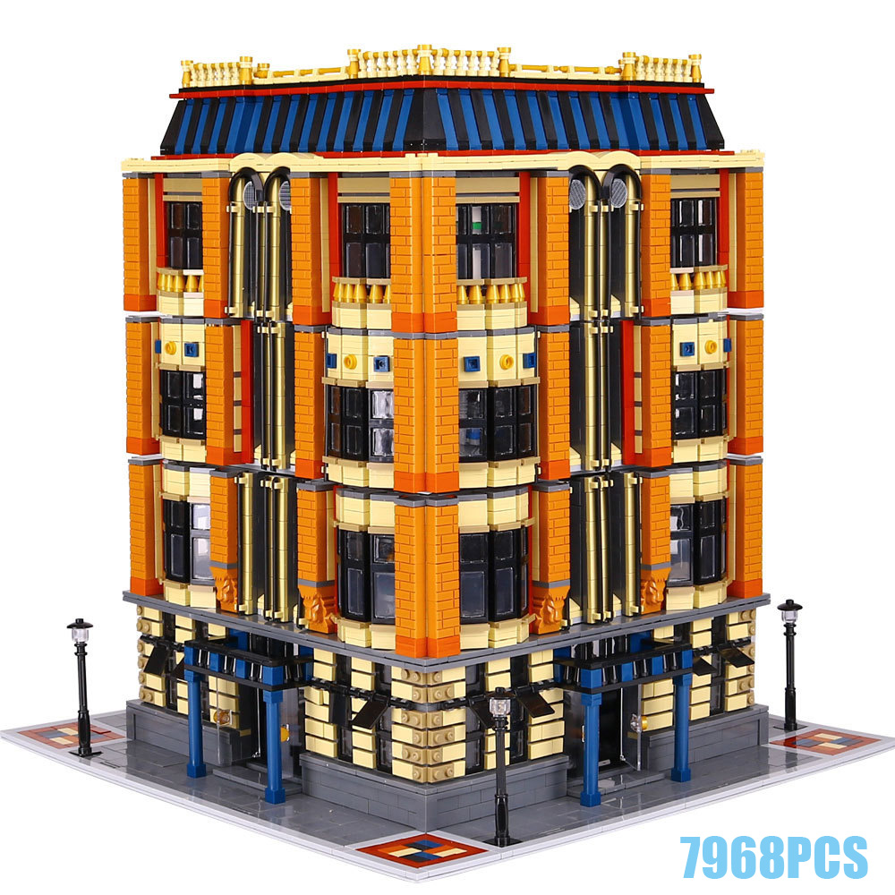 New city street view Creative The Apple University MOC building block model lepins bricks toys for children gifts collection hot city series aviation private aircraft lepins building block crew passenger figures airplane cars bricks toys for kids gifts