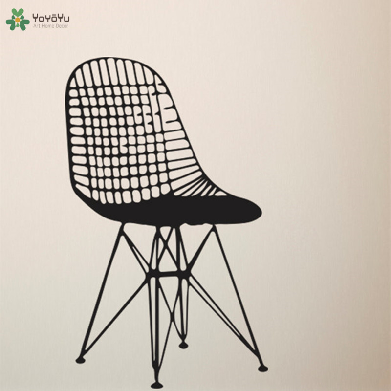Brilliant Us 7 78 28 Off Yoyoyu Wall Decal Creative Furniture Chair Vinyl Wall Stickers Art Mural Home Decoration Accessories Mid Century Modern Diy Ct93 In Squirreltailoven Fun Painted Chair Ideas Images Squirreltailovenorg