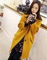 2016 женская Мода зима loog пальто женщин бренд высокого качества шерстяные теплое пальто тонкий пиджак плюс размер FZ067