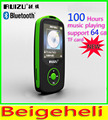 New Original RUIZU X06 Bluetooth Esporte MP3 Player com Tela de 1.8 Polegadas pode player 100 Horas Gravador de lossless de alta qualidade FM