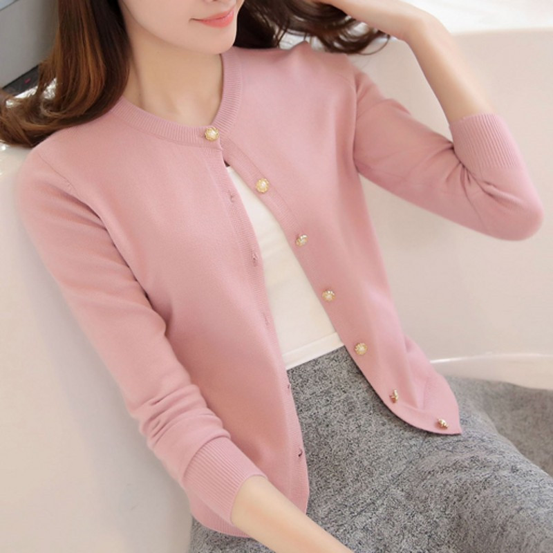 New Spring Summe 2020 Women Knit Cardigan Sweater Casual Short Coat Female A Little Shawl Thin Knitted Jacket Elegant Outerwear