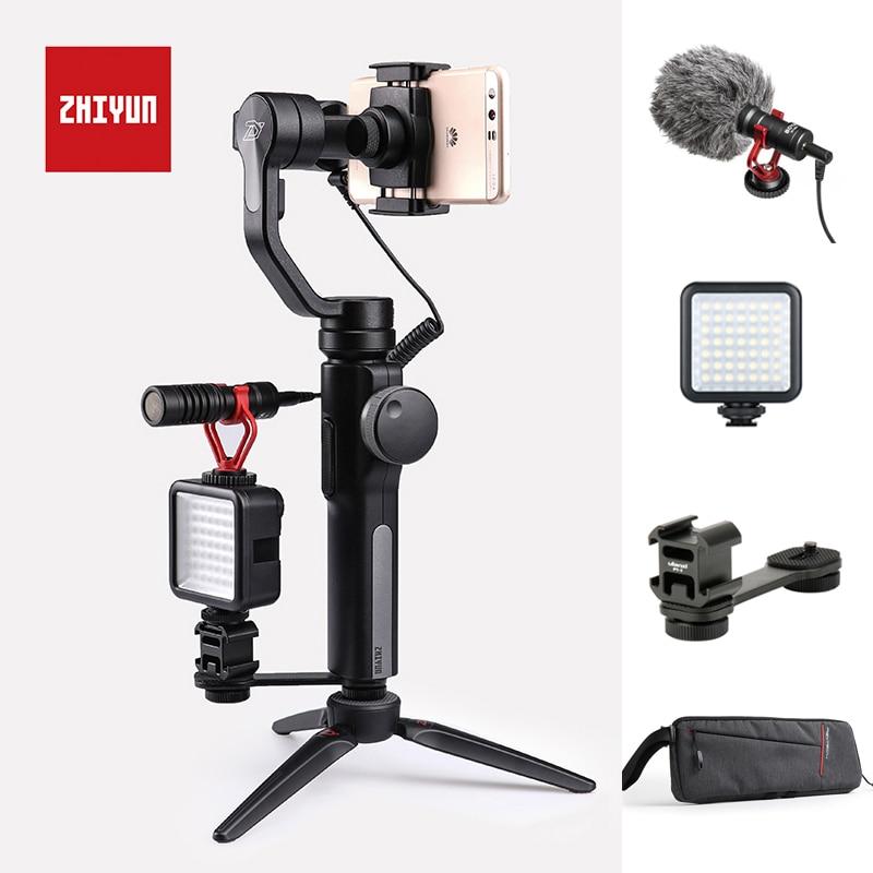 Zhiyun гладкой 4 3 оси ручной карданный Портативный стабилизатор для фотоаппарата крепление для смартфонов iPhone 8/7/6 samsung S8/S9 huawei P20 Pro