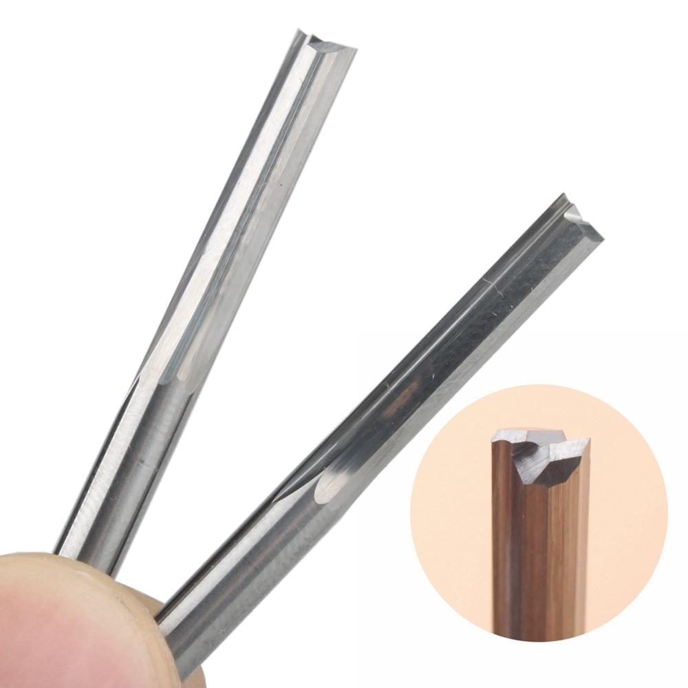10 Pcs 4*22mm Two Flutes Straight Bits,Wood Cutters,CNC Solid Carbide CNC Router Bit,Router Cutters