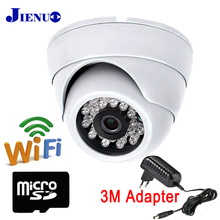 цена на JIENU IP Camera wifi 720P 960P 1080P hd cctv home security wireless support audio mini surveillance system ipcam Micro SD Slot