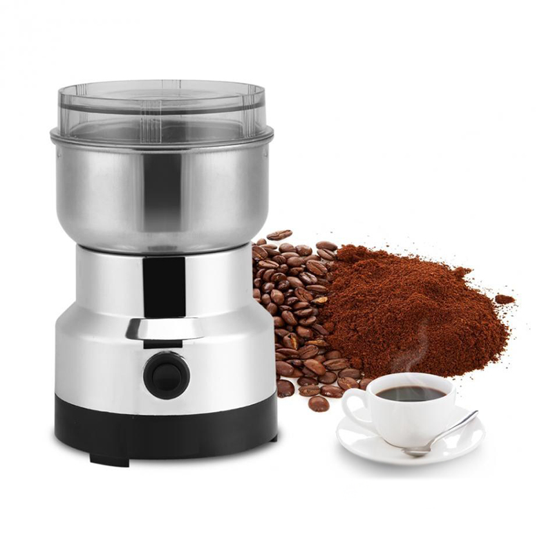 Multifunction Coffee Grinder Electrical Stainless Steel Food Grade Grinding Milling Machine 220V EU Plug Coffee Accessories fast food leisure fast food equipment stainless steel gas fryer 3l spanish churro maker machine