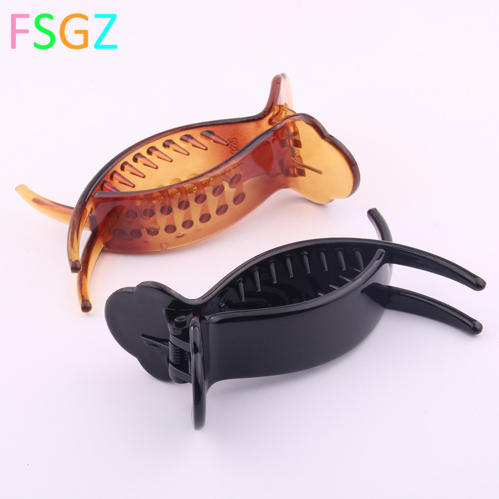 Holding Hair Claw Section Styling Tools Hair Clip Clamps Care Hairpins Pro Salon Fix Hair Hairdressing Tool Crab For Hair 8.3CM