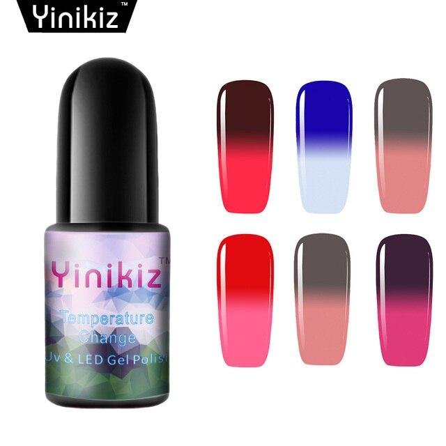 Yinikiz Thermo Color Changing Nail Polish Temperature Changing Glitter  Shiny Nail Gel Polish Esmaltes Mood Color Nail Vernis 931764a80
