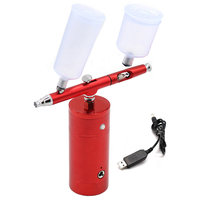 Wireless Airbrush Kit With Rechargeable Airbrush Compressor Big Capacity Ink Cup Spray Pen For Nail Art Face Paint Cake Colori