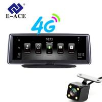 E ACE 8 дюймов 4G Android Двойной объектив Видеорегистраторы для автомобилей gps навигатор ADAS Full HD 1080p тире Камера авто видео регистратор навигации Р