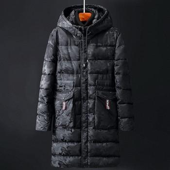 Men Parkas Casual Long Jacket Outwear Thicken Warm Hooded Outwear Coat Windproof Blue Deep grey Camouflage Winter 6XL 8XL 10XL