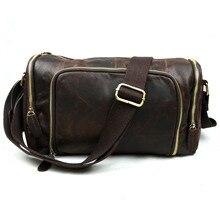 Men's Fashion Leisure Bag 2015 Shoulder Messenger Bag Crazy Horse Leather Crossbody Genuine Leather  Bag For Men