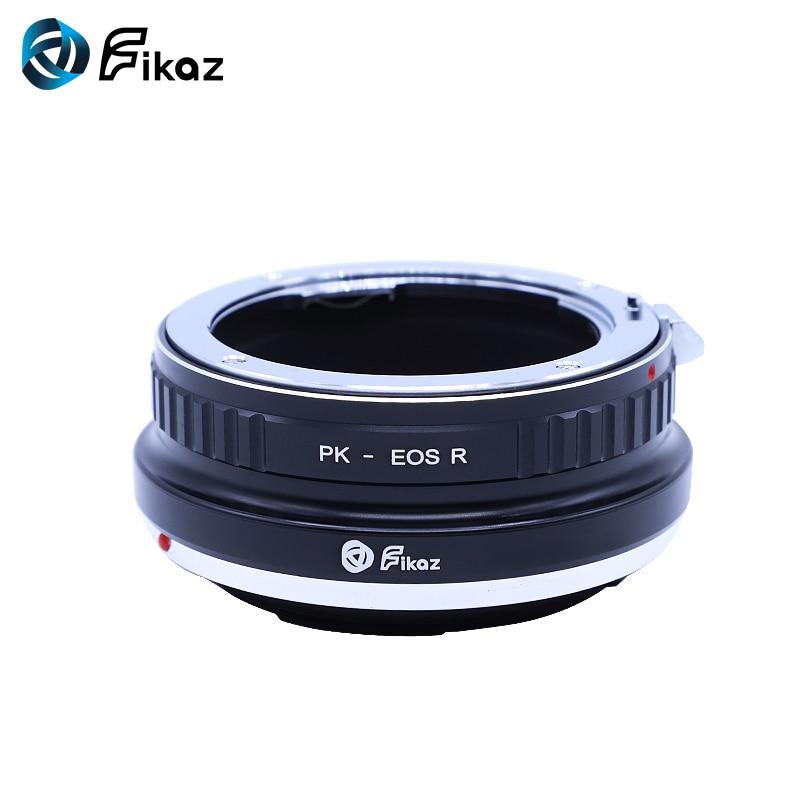 Fikaz Pour PK-EOS R Lentille adaptateur de montage Anneau pour Pentax PK K objectif pour appareil canon EOS R RF Mont Caméra