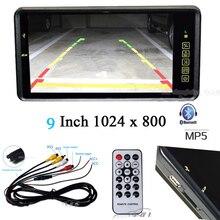 2018 أحدث 9 بوصة LCD رصد سيارة مرآة بلوتوث MP5 FM الموسيقى لاعب مع USB SD التحكم عن بعد إدخال الصوت وقوف السيارات مساعدة