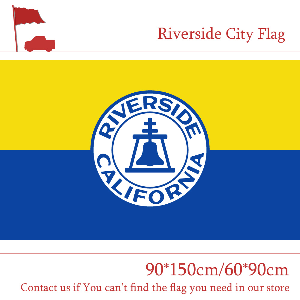 Free shipping 90 150cm 60 90cm Flag 3x5ft Riverside City Flag Of California State Custom Polyester For Campaign in Flags Banners Accessories from Home Garden