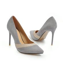купить YANSHENGXIN Red Stiletto Wedding Shoes Woman Pumps Ladies Scarpin Women High Heels Pointed Toe Sexy Party Shoes Brides Shoe по цене 1285.69 рублей