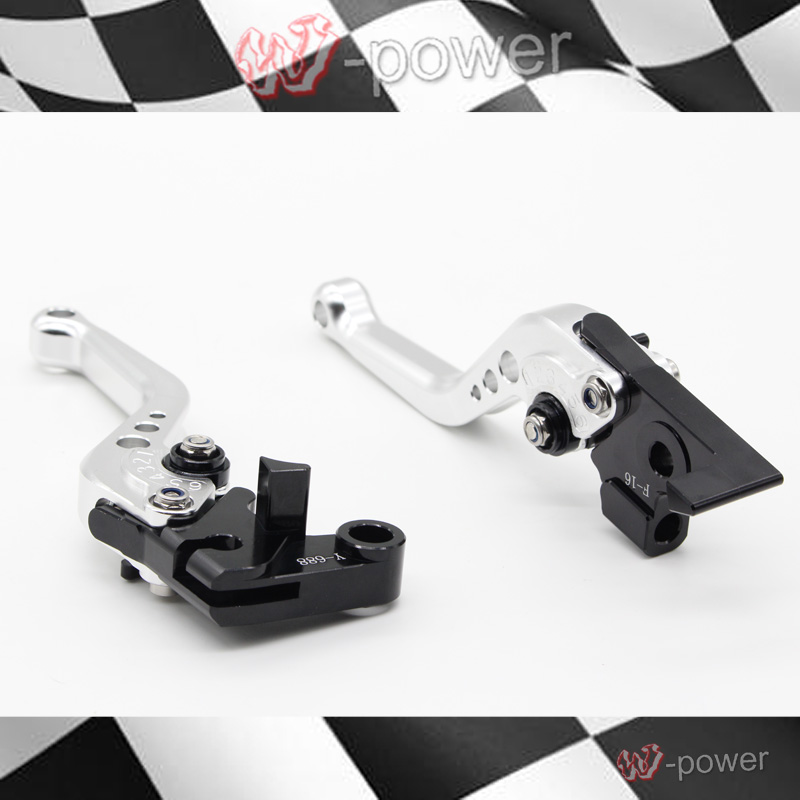 For DUCATI MONSTER 695 696 796 Motorcycle accessories CNC billet aluminum short brake clutch lever silver