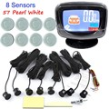 hot sale car Parking Sensor Buzzer LCD display monitor Reverse Backup Radar Monitor System 12V 44 Colors available 8 sensor