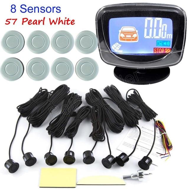 hot sale car Parking Sensor Buzzer LCD display monitor Reverse Backup Radar Monitor System 12V 44 Colors available 8 sensor