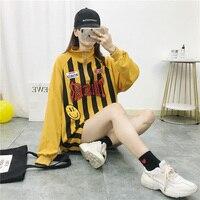 Korean Version Of Spring Embroidery Sweatshirt Letter Ring Zipper Stripe Hip Hop Sweatshirt Baseball Casual Wild Sweatshirt