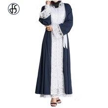FS Musulmano Vestito Abaya Per Le Donne Cardigan Abbigliamento Islamico  Dubai Plus Size Abito Arabes Femminile Plus Size Rappezz. 6343eedf367