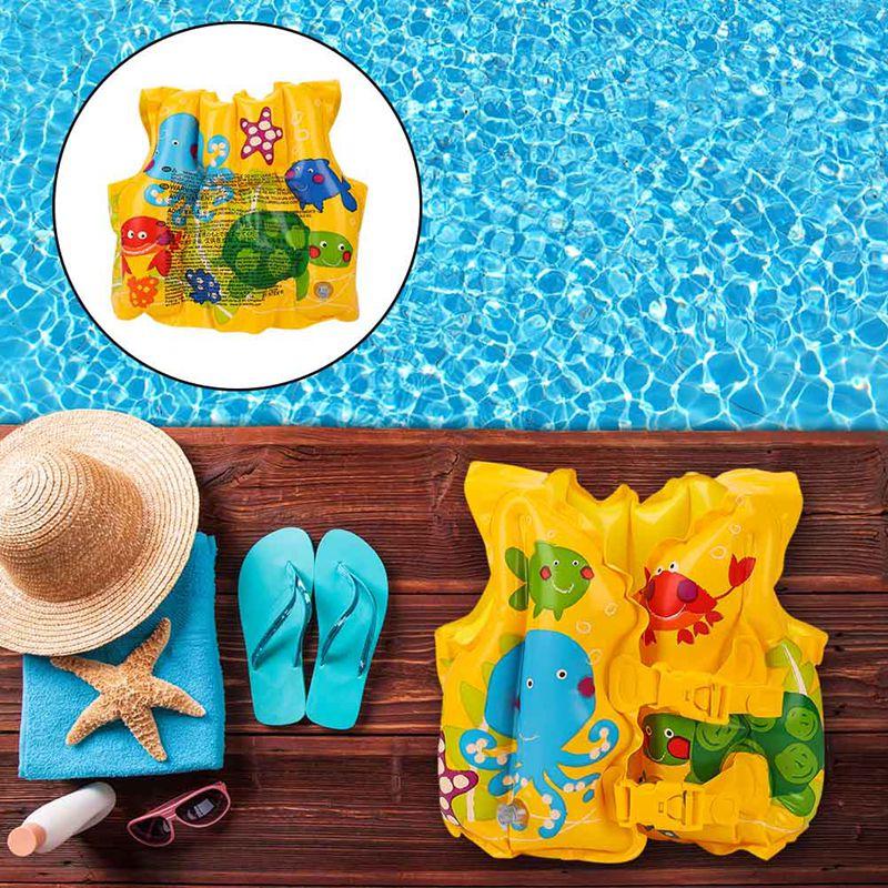 Утепленные детские бассейн надувной жилет Регулируемый младенцев надувной бассейн Float спасательный жилет купальник детский плавательный ...