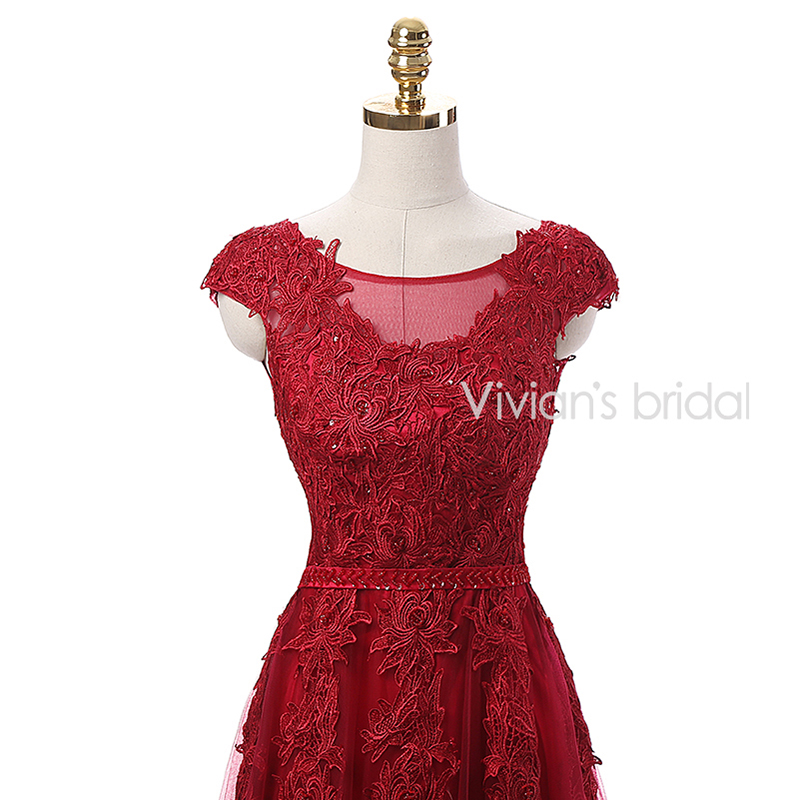 Vivian's Bridal Burgundy Sexy Kjole Kjole Lang 2016 Couture Formell - Spesielle anledninger kjoler - Bilde 5
