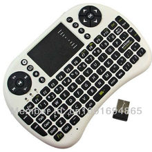Мини Портативная 2,4 ГГц Беспроводная клавиатура с тачпадом Клавиатура Мышь комбо, поддержка Raspberry Pi 3 Model B+ ПК ноутбук/ТВ коробка