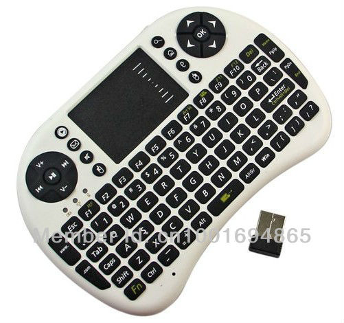 Mini Portable 2.4GHz Wireless Keyboard with Touchpad Keyboard Mouse Combo,Support Raspberry Pi 3 Model B+ PC Notebook /TV Box