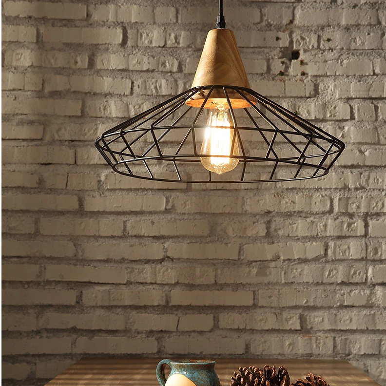 Nordic Vintage Metal Nets Droplight Black White American Country Retro Hanging Lamps Home Indoor Dining Room Cafes Pub Lighting nordic vintage hemp rope droplight american country retro candle pendant lights fixture dining room restaurant cafes pub lamps