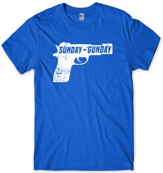 2019 Summer Hot Sale Cotton Good Quality Brand Cotton Summer Style Cool T-Shirt Sunday Gunday Pistol Men Funny Unisex T-Shirt 1