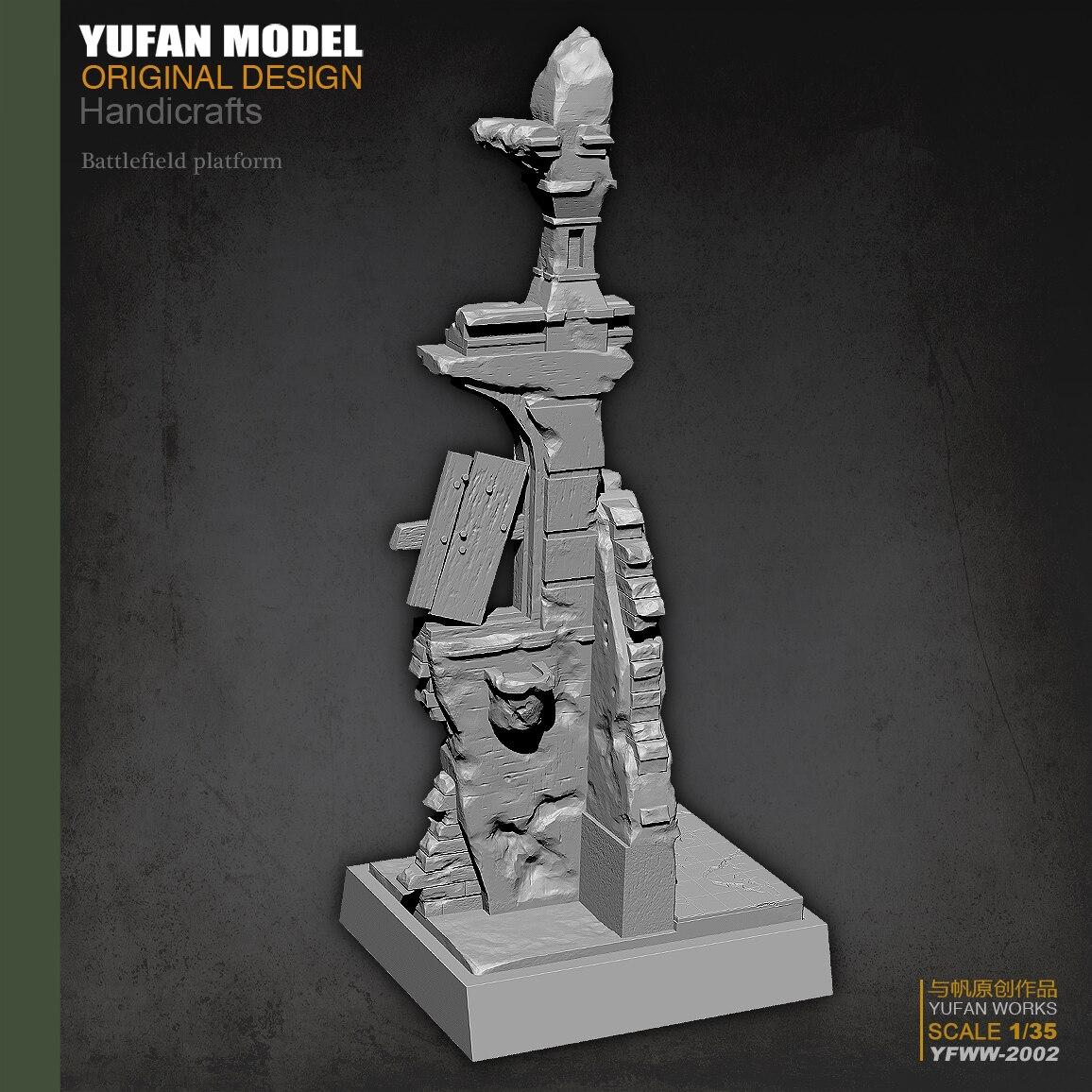Yufan Model L 1/35  European Broken Wall Resin Platform Yfww-2002