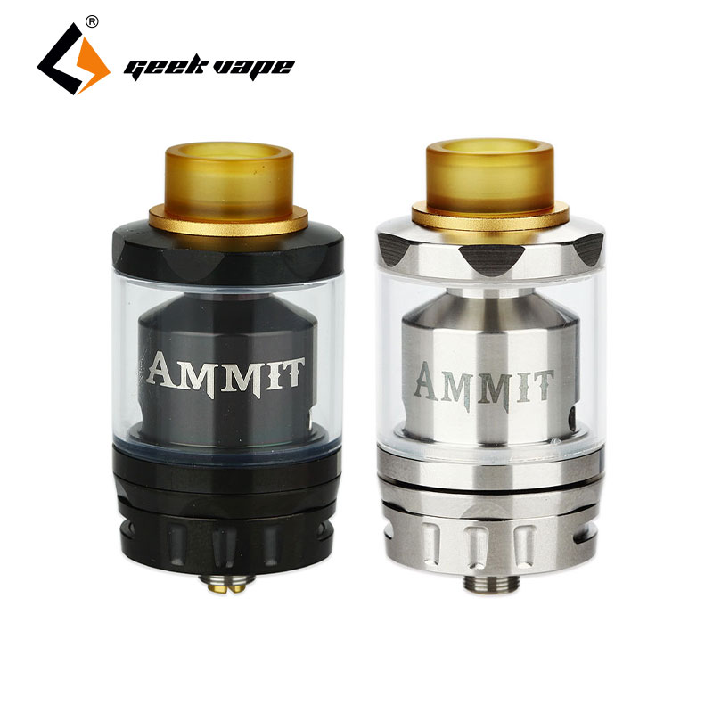 Original Geekvape Ammit Dual Coil RTA Tank 3ml/6ml Capacity Support Dual and Single Coil Ammit Atomizer Top Filling Vape Tank original geekvape shield sub ohm tank 4 5ml top filling shield atomizer im1 coil im4 coil support geekvape aegis box mod vape