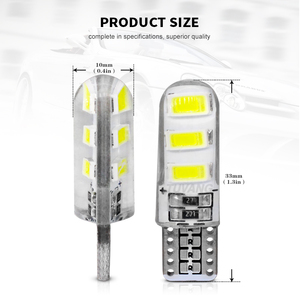 Image 4 - 5x Newest T10 194 168 W5W 6Smd 5730 Car Led Silicone Shell Auto Dome Parking Lights Car Side Wedge Light Lamp Bulb Car Styling