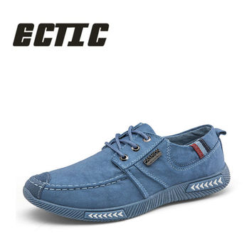 ECTIC Band boy Low Canvas Flats sneakers Shoes Gary blue men Footwear Low Classic Casual Shoes Light pedal shoes summer XX-042 Обувь