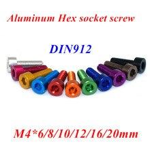 O alumínio de 10 pces m4 encanta o parafuso m4 * 6/8/10/12/16/20/25mm 7075 liga de alumínio anodizado modelo parafusos misturam cores