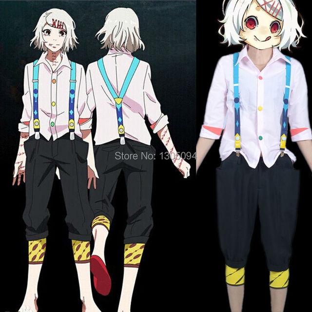 One Piece Halloween Set To Return To Tokyo One Piece Tower: Tokyo Ghoul Cosplay Costumes Juuzou Suzuya Full Set