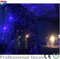Kostenloser Versand 3m * 6m Led Stern Vorhang Bühne Hintergrund Tuch  starry Sky Tuch LED Stern Vorhang DJ Bühne Disco Licht DMX Control-in Bühnen-Lichteffekt aus Licht & Beleuchtung bei