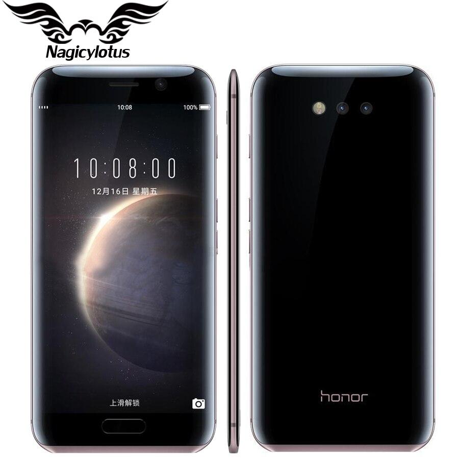 """Цена за Оригинал Huawei Honor Магия 4 Г LTE Мобильного Телефона Кирин 950 4 ГБ RAM 64 ГБ ROM Android 6.0 5.09 """"2 К 2560X1440px Двойная Камера 12 + 12 МП"""