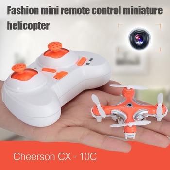 Cheerson cx-10c cx-10c cx10c mini 2.4g 4ch 6 axis gyro control remoto rc helicóptero quadcopter drone con cámara de $ number mp toys