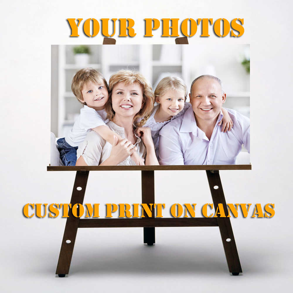 Custom Print On Canvas Printing Canvas poster Wall Pictures Home Decoration Your photo giclee oil painting decorative pictures